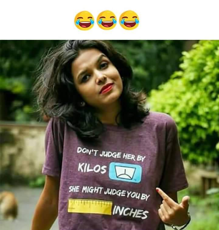 Please Dont Judge Her By Kilograms T Shirt Humor
