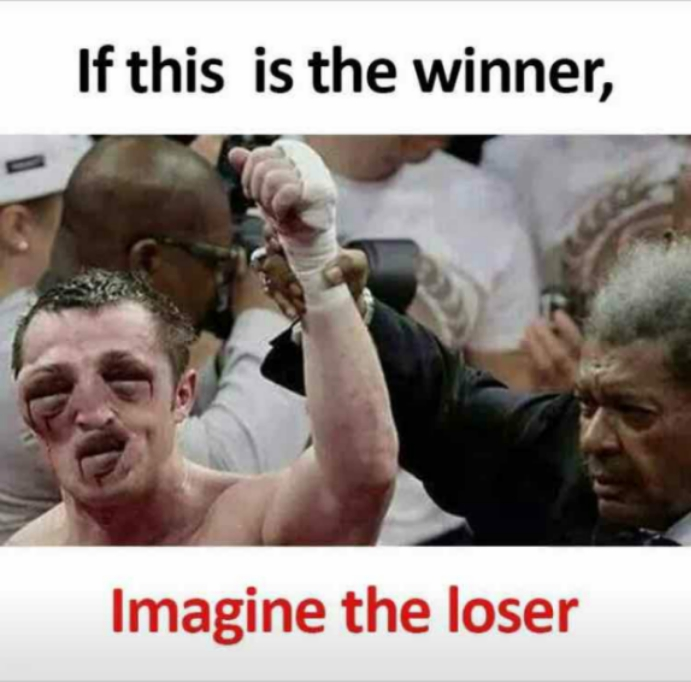 Boxing Memes If this is the winner Imagine the loser boxing memes if this is the winner, imagine the loser! humor