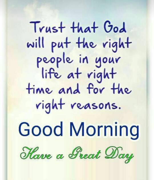 Good Morning Messages God Will Put The Right People In Your Life