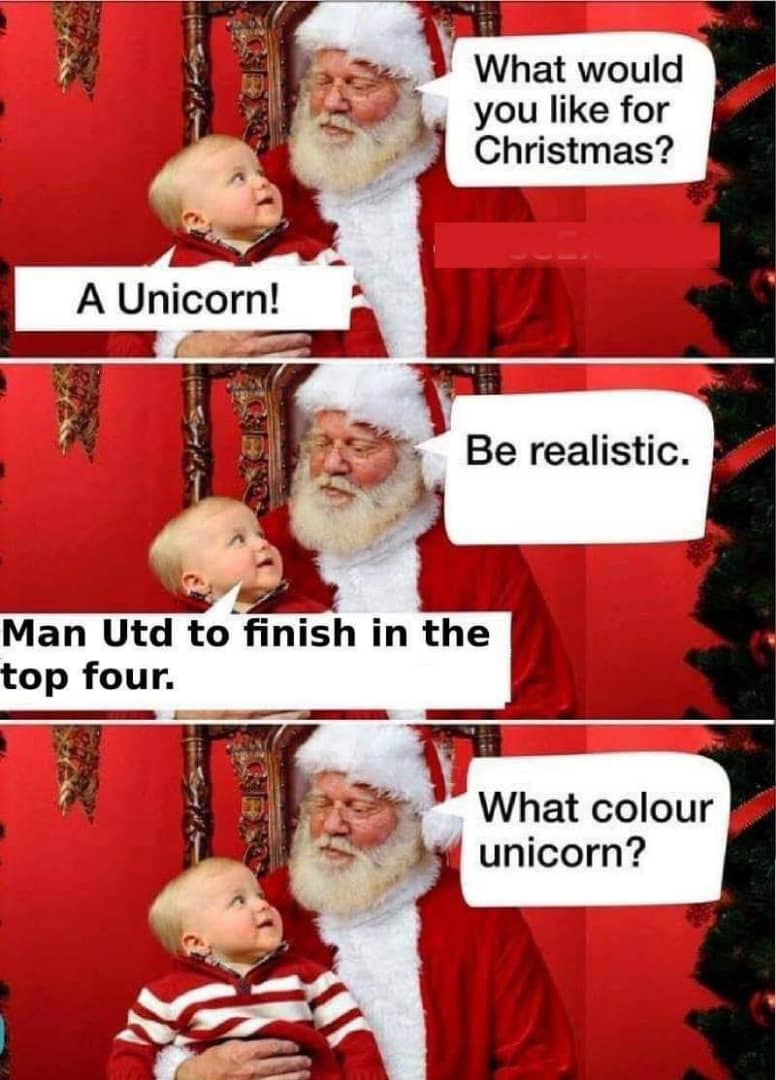 Manchester United to finish in the top 4 - Jokes - Memes ...