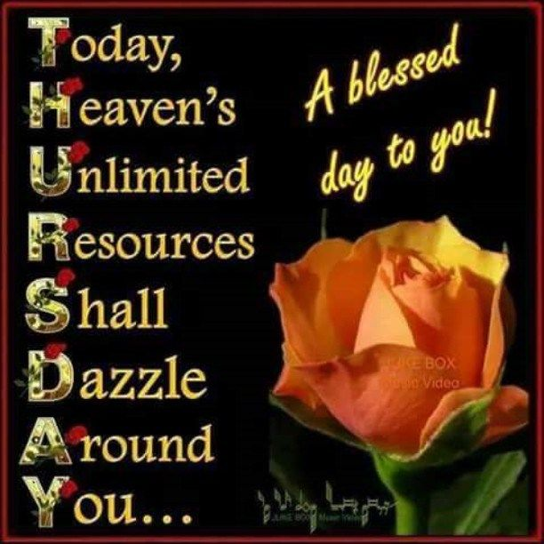 Blessing Happy Thursday Images And Quotes